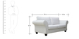 Anapolis Three Seater Sofa in  Pearl White  Colour by CasaCraft