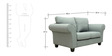Anapolis Two Seater Sofa in Ash Grey Colour by CasaCraft