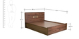 Andorra Queen Bed with Storage in Columbia Walnut Finish by Mintwud