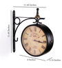 Anantaran Black Iron Replica Victoria Double Side Station Clock Wall Clock