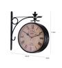 Anantaran Black Iron Double Side Station Clock Retro Wall Clock