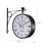Anantaran Vintage 12 Inch Double Sided Station Wall Clock