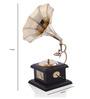 Anantaran Brown Wooden Miniature Gramophone Model