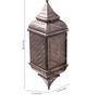 Anasa Brown Metal Lantern