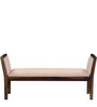 Harrington Upholstered Bench in Provincial Teak Finish by Woodsworth