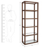 Andes Glass & Wood Display Unit in Light Brown Colour by Asian Arts