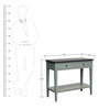 Andrew European Console Table in Grey & Black Colour by Asian Arts
