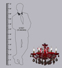 Anemos Metal & Ruby Red Chandelier