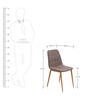 Angel Dining Chair in Coffee Brown Colour by @Home