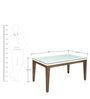 Angel Six Seater Dining Table in Brown Colour by @Home