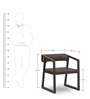 Angular Chair in Black Colour by FurnitureTech