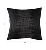 Anna Simona Black Cotton 16 x 16 Inch Classic Zig Zag Pattern with Silver Twist Cushion Cover