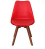 Anzu Accent Chair (Set of 2) in Red Colour by Mintwud