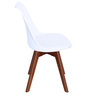 Anzu Accent Chair (Set of 2) in White Colour by Mintwud