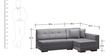 Apollo RHS Sectional Sofa with Chaise in Grey Colour by Furny