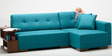 Apollo Sectional Sofa with LHS Chaise in Blue Colours by Furny