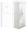 Apollo High Gloss Two Door Wardrobe with Mirror by HomeTown