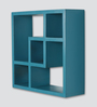 Panama Contemporary Wall Shelf in Blue by CasaCraft