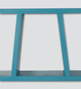 Phoebus Contemporary Wall Shelf in Blue by CasaCraft