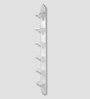Rico Contemporary Wall Shelf in White by CasaCraft