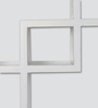 Panama Contemporary Wall Shelf in White by CasaCraft