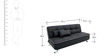 Ariana Soft Sofa cum Bed in Black Colour by Furny