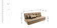 Ariana Soft Sofa cum Bed in Camel Colour by Furny