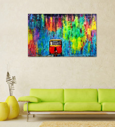 Artflute Automaniac High Quality Texture Print On Canvas