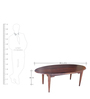 Arc Oval Coffee Table in Warm Rich Finish by Inliving
