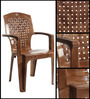 Aristo High Back Chair Set of Two in SBrown colour by Cello