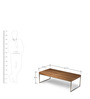 Arlington Rectangle Coffee Table in Brown Colour by HomeHQ