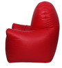 Arm Chair XXXL Bean Bag with Beans in Red Colour by Sattva