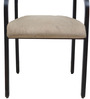 Arm Chair with Back Cushion in Wenge Colour by Crystal Furnitech