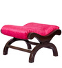 Armchair with Foot Stool in Pink Upholstery & Brown Polish By Karigar by Karigar