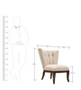Armless Contemporary Chair by Afydecor