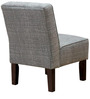 Armless Modern Styled Accent Chair with Fabric Upholstered by Afydecor