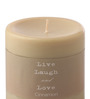 Aroma India Cinnamon Scented Colour Pillar Candle