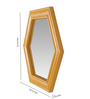 Art Creation Brown Solid Wood Decorative Mirror