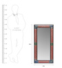 Art Creation Multicolour MDF Painted Framed Mirror