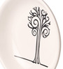 Art Ka Keeda White Melamine Dishi6 Tree Abstract Round Wall Art