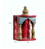 Art of Jodhpur Multicolor Solidwood  Jodhpuri Hand painted Temple