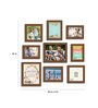 Art Street Black Fibre Wood Happy Home Positive Vibes Theme Wall Quote Photo Frame - Set of 9