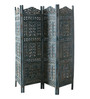 Artisans Rose Blue Solidwood Kashmiri-Style Screen & Divider