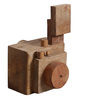 Artisans Rose Brown Solidwood Click Camera - Set of 3 Collectibles