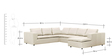 Asheley Sectional Sofa in Off White Colour by Madesos
