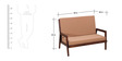 Kennewick Two Seater Sofa in Provincial Teak Finish by Woodsworth