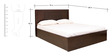 Astra King Bed with Storage in Wenge Colour by HomeTown