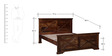 Volga King Size Bed in Provincial Teak Finish by Woodsworth