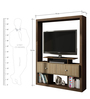 Asa Entertainment Unit in Tobacco & Oak Finish by Mintwud