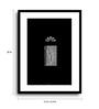 Asian Artisans MDF & Paper 16 x 2.5 x 22 Inch Black & White Vertical Window Framed Digital Art Print